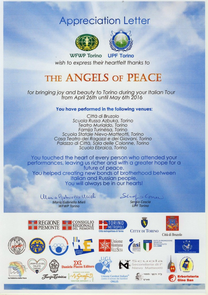 Italy 2016 for Angels of peace